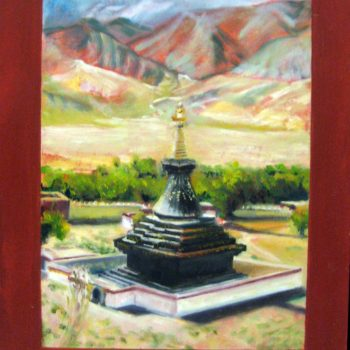 Black Chorten Samye Tibet