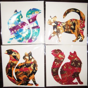 Hand Made Cat Greeting Cards