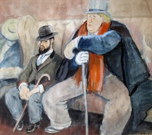 Toulouse-Lautrec with Oscar Wilde