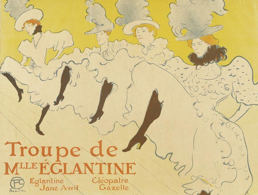 Toulouse-Lautrec - La Troupe de Madamoiselle Eglantine