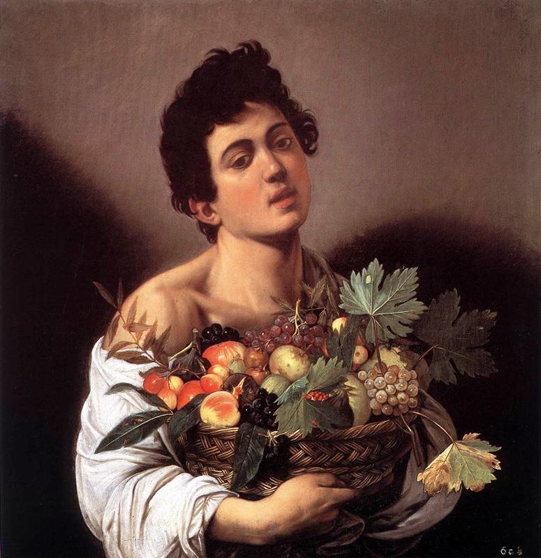 Michelangelo Merisi da Caravaggio - Boy with a Basket of Fruit